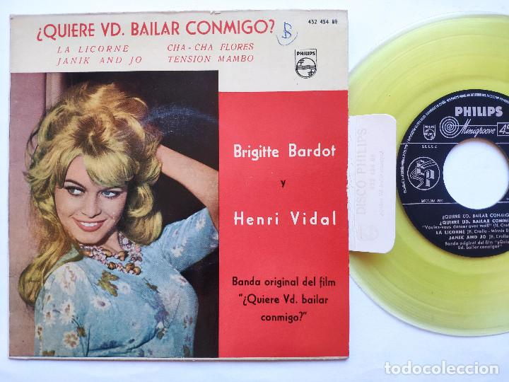 BRIGITTE BARDOT - EP SPAIN PS - MINT * OST QUIERE VD. BAILAR CONMIGO (Música - Discos de Vinilo - EPs - Funk, Soul y Black Music)