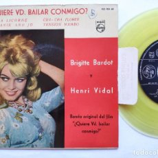 Discos de vinilo: BRIGITTE BARDOT - EP SPAIN PS - MINT * OST QUIERE VD. BAILAR CONMIGO. Lote 234942965