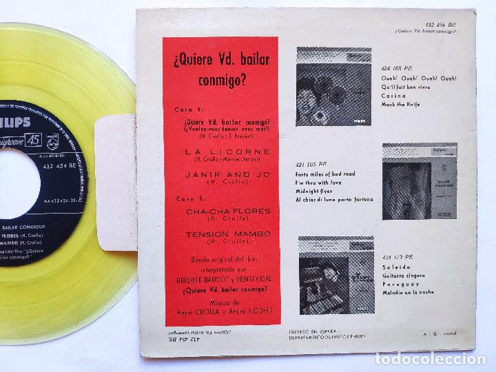 Discos de vinilo: BRIGITTE BARDOT - EP Spain PS - MINT * OST QUIERE VD. BAILAR CONMIGO - Foto 2 - 234942965