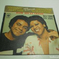 Discos de vinilo: SINGLE JOHNNY MATHIS DENIECE WILLIAMS. AÚN NO ES TARDE. AMOR PROFUNDO. CBS 1978 (PROBADO BUEN ESTADO. Lote 234943380