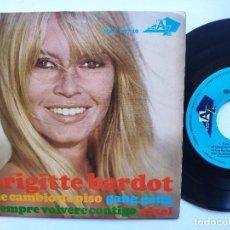 Discos de vinilo: BRIGITTE BARDOT - EP SPAIN PS - MINT * ME CAMBIO DE PISO / GANG GANG / EL SOL + 1. Lote 234944570