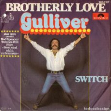 Discos de vinilo: GULLIVER - BROTHERLY LOVE - BSO DE PAR E IMPAR - BUD SPENCER / TERENCE HILL - IMPORTACION. Lote 234946400