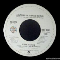 Discos de vinilo: CHAKA KHAN - I'M EVERY WOMAN / A WOMAN IN A MAN'S WORLD - SINGLE USA 1978 - WARNER. Lote 234948815