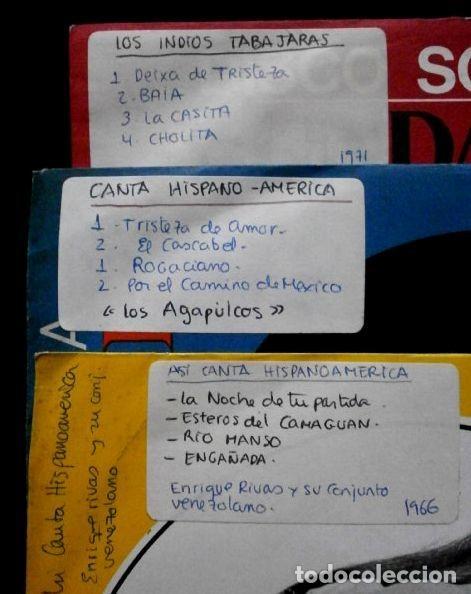 Discos de vinilo: CANTA HISPANO-AMERCIA (LOTE 3 EPs 1966 FUNDADOR) LOS AGAPULCOS, INDIOS TABAJARAS, ENRIQUE RIVAS - Foto 2 - 234963710