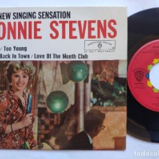 Discos de vinilo: CONNIE STEVENS - EP SPAIN PS - EX * APOLLO / TOO YOUNG / LOVE OF THE MONTH CLUB + 1. Lote 234964690