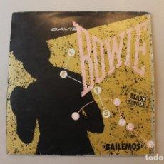 Discos de vinilo: DAVID BOWIE, MAXI SINGLE, BAILEMOS, EMI AMERICA, 1983. Lote 234977035