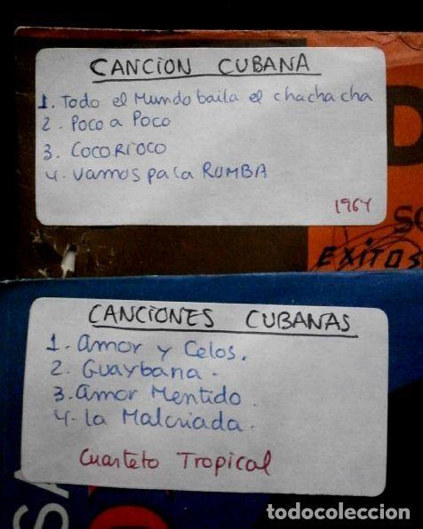 Discos de vinilo: CANCIONES CUBANAS (LOTE 2 EPs 1966 FUNDADOR) CUARTETO TROPICAL - AMOR Y CELOS, LA MALCRIADA, HASTA 8 - Foto 2 - 234985295