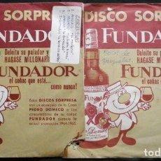 Discos de vinilo: ZARZUELAS (LOTE 6 EPS 1962-66 FUNDADOR) ORQUESTA SINFONICA - 8 CANCIONES DE FAMOSAS ZARZUELAS. Lote 234988650