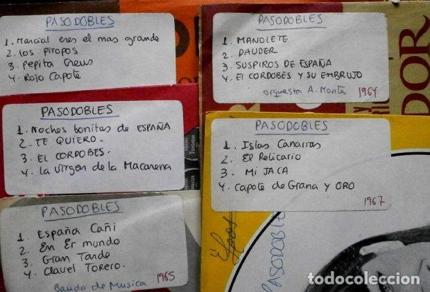 Discos de vinilo: 20 PASODOBLES (LOTE 5 EPs 1964-67 FUNDADOR) ISLAS CANARIAS, MI JACA, MANOLETE, ESPAÑA CAÑI, DAUDER.. - Foto 2 - 234990845