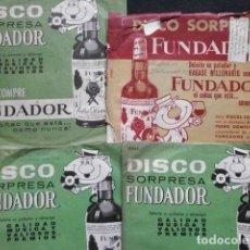 Discos de vinilo: ORQUESTAS ITALIANAS (LOTE 4 EPS 1963-64 FUNDADOR) PIERO PONTI Y PIERO ALBERTI. Lote 234993535