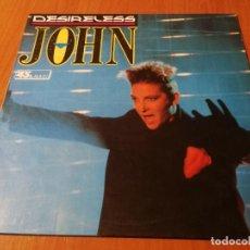 Discos de vinilo: MAXI SINGLE 1988 DESIRELESS JOHN. Lote 235020865