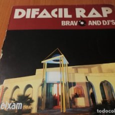 Discos de vinilo: MAXI SINGLE 1989 DIFACIL RAP BRAVO AND DJ'S PACO BRAVO, JOE ROSARIO SEBASTIAN TECLAS. Lote 235020995