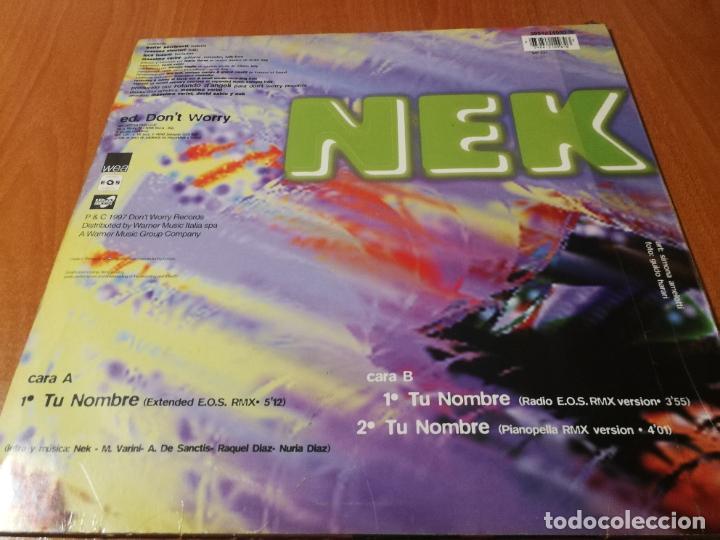 Discos de vinilo: MAXI SINGLE 1997 NEK TU NOMBRE RMX ED. DON'T WORRY GERMANY - Foto 2 - 235026165