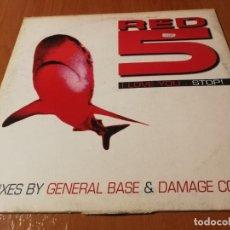 Discos de vinilo: MAXI SINGLE 1997 RED 5 I LOVE YOU …STOP REMIXES BY GENERAL BASE& DAMAGE CONTROL. Lote 235027040