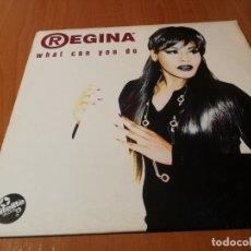 Discos de vinilo: MAXI SINGLE 1998 REGINA WHAT CAN YOU DO. Lote 235027265