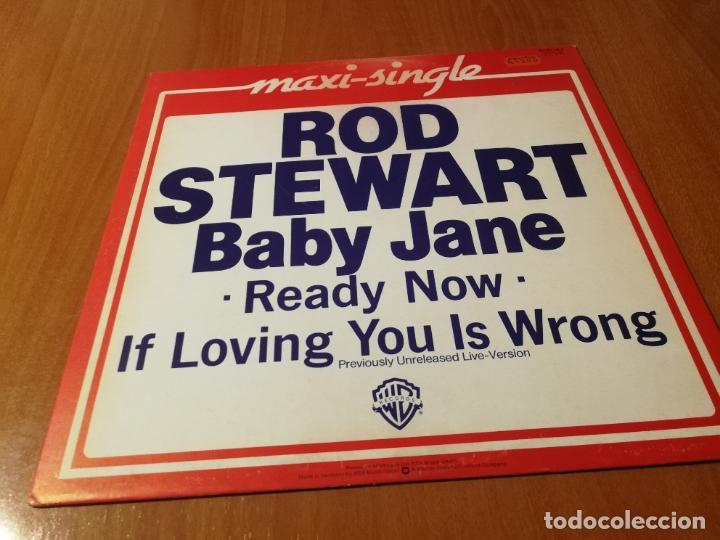 MAXI SINGLE 1983 ROD STEWART BABY JANE READY NOW IF LOVING YOU IS WRONG (Música - Discos de Vinilo - Maxi Singles - Disco y Dance)
