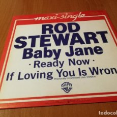 Discos de vinilo: MAXI SINGLE 1983 ROD STEWART BABY JANE READY NOW IF LOVING YOU IS WRONG. Lote 235027430