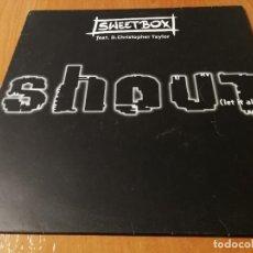 Discos de vinilo: MAXI SINGLE 1998 SWEETBOX FEAT D. CHRISTOPHER TAYLOR SHOUT (LET IT ALL OUT). Lote 235028395