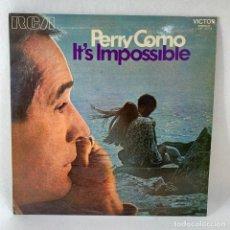 Discos de vinilo: LP - VINILO PERRY COMO - IT'S IMPOSSIBLE - ESPAÑA - AÑO 1971. Lote 235050145