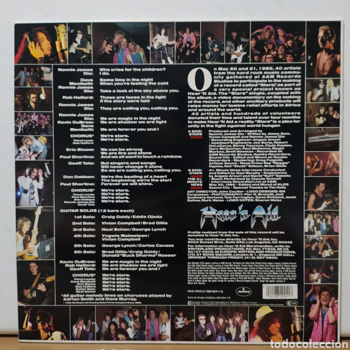 Discos de vinilo: Hearn Aid - Stars 1986 Ed Holandesa - Foto 4 - 235050675