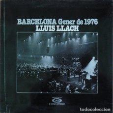 Discos de vinilo: LLUÍS LLACH, BARCELONA GENER DE 1976, LP, ALBUM, GATEFOLD, SPAIN 1976. Lote 235059280