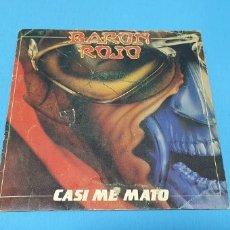 Discos de vinilo: DISCO DE VINILO - BARÓN ROJO - CASI ME MATO - 1983. Lote 235061845