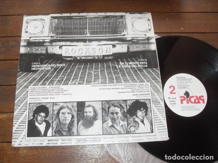 Discos de vinilo: ROCKSON MAXI SINGLE HEREDEROS DEL ROCK MADE IN SPAIN. 1984 - Foto 4 - 235073740