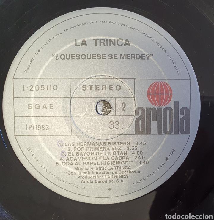 Discos de vinilo: Lp La Trinca - ¿Quesquesé que merece? - Foto 3 - 235085170