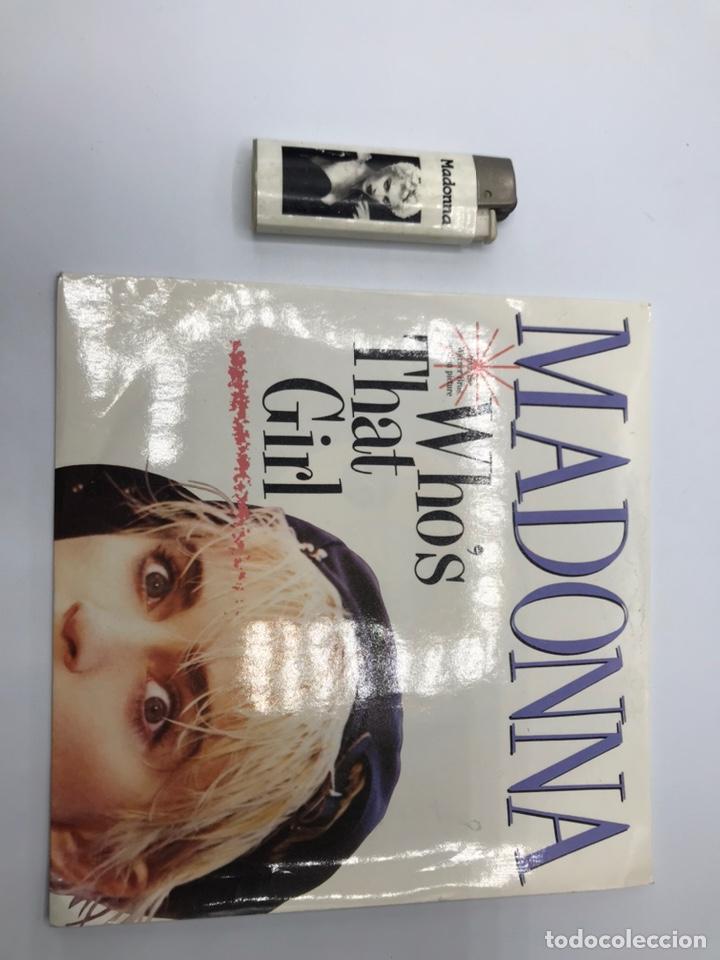 Discos de vinilo: Lp madonna who's that girl y mechero - Foto 2 - 235085420