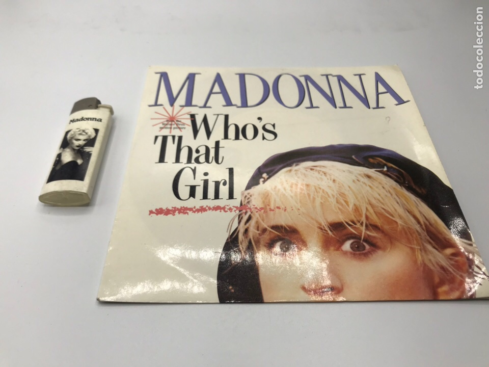Discos de vinilo: EP madonna who's that girl y mechero SINGLE - Foto 3 - 235085420