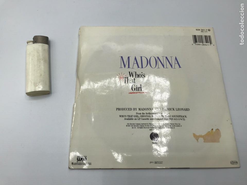 Discos de vinilo: Lp madonna who's that girl y mechero - Foto 4 - 235085420
