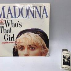 Discos de vinilo: LP MADONNA WHO'S THAT GIRL Y MECHERO. Lote 235085420