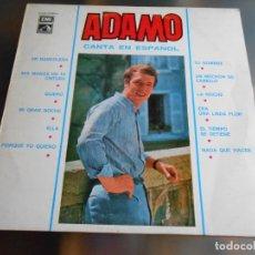 Discos de vinilo: ADAMO - CANTA EN ESPAÑOL -, LP, EN BANDOLERA + 11, AÑO 1966. Lote 235097715