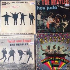 Discos de vinilo: THE BEATLES. 1 SINGLE + 3 EPS.. Lote 235110440