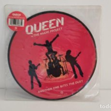 Discos de vinilo: QUEEN VS THE MIAMI PROJECT - ANOTHER ONE BITES THE DUST - PICTURE DISC. Lote 235115880