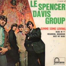 Discos de vinilo: LE SPENCER DAVIS GROUP - GIMME SOME LOVING + 3 EP.S. Lote 235116790