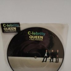 Discos de vinilo: QUEEN & PAUL RODGERS - C-LEBRITY SINGLE PICTURE DICS. Lote 235128935
