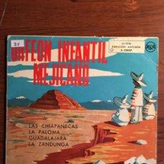 """Discos de vinilo: EP 7"""" ORFEON INFANTIL MEJICANO, CON 4 TEMAS RCA EDICIÓN ESPAÑOLA. Lote 235131590"""