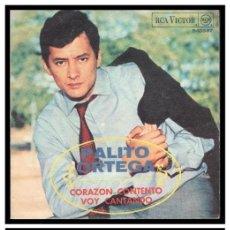 Discos de vinilo: XX SINGLE, PALITO ORTEGA, CORAZON CONTENTO Y VOY CANTANDO.. Lote 235132405