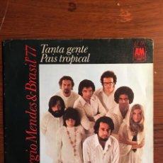 "Discos de vinilo: SINGLE 7"" SERGIO MENDES & BRASIL´77 - PAIS TROPICAL, AM RECORDS, 1971. Lote 235140320"
