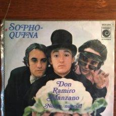 """Discos de vinilo: SINGLE DE SOPHOQUINA """"DON RAMIRO MANZANO"""", DE NOVOLA 1975. Lote 235143885"""