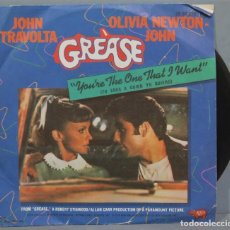 Discos de vinilo: SINGLE. GREASE. YOU`RE THE ONE THAT I WANT. Lote 235148775