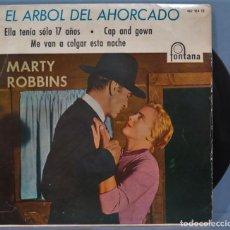 Discos de vinilo: EP. EL ARBOL DEL AHORCADO. MARTY ROBBINS. Lote 235149040