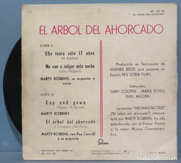 Discos de vinilo: EP. EL ARBOL DEL AHORCADO. MARTY ROBBINS - Foto 2 - 235149040