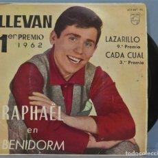 Discos de vinilo: EP. RAPHAEL EN BENIDORM. LLEVAN. Lote 235150360