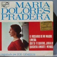 Discos de vinilo: EP. MARIA DOLORES PRADERA. EL ROSARIO DE MI MADRE. Lote 235150510