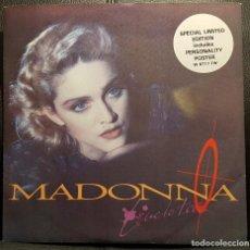 Discos de vinilo: MADONNA - LIVE TO TELL - MAXISINGLE - REINO UNIDO - CON POSTER - MUY RARO - NO USO CORREOS. Lote 235156485
