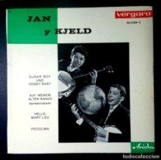 Discos de vinilo: JAN UND KJELD - SUGAR BOY UND HONEY BABY - EP 1963 - VERGARA. Lote 235163615