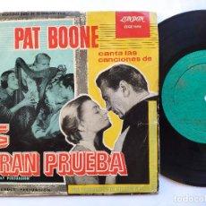 Dischi in vinile: PAT BOONE - EP SPAIN PS - LA GRAN PRUEBA + 3. Lote 235166925