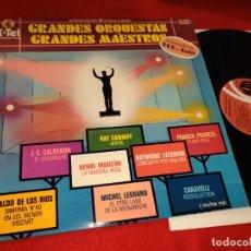 Disques de vinyle: GRANDES ORQUESTAS GRANDES MAESTROS CALDERON+CONNIFF+MANCINI+POURCEL+CARAVELLI+WALDO RIOS LP 1978 KTE. Lote 235172605